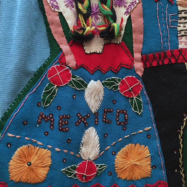 Mexican Wool Jacket With Appliqued Man and Woman 5