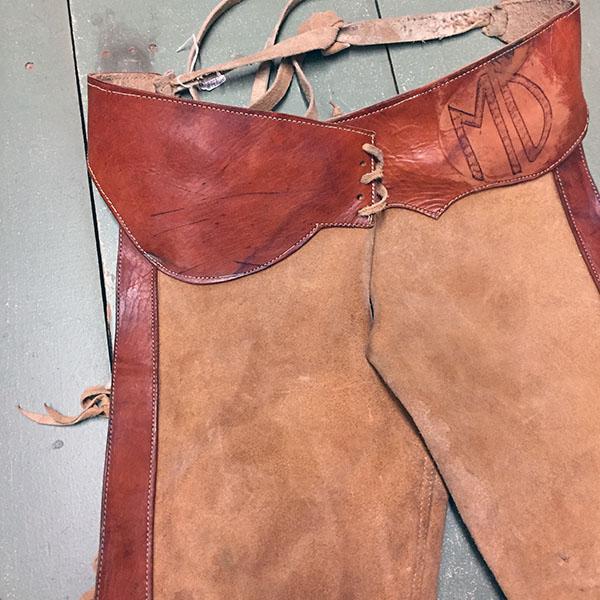 Vintage Cowhide Chaps 4