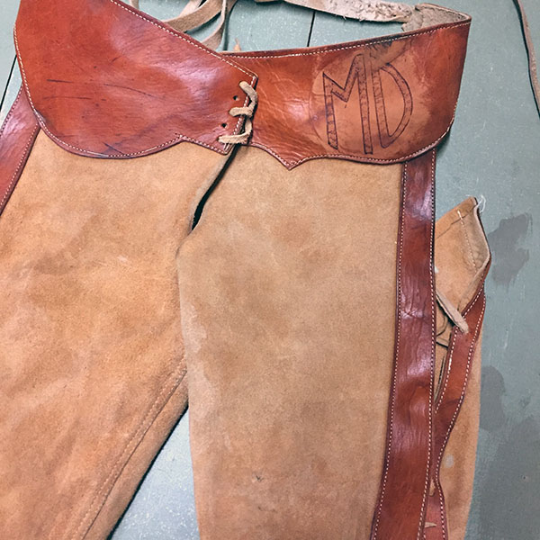 Vintage Cowhide Chaps 5