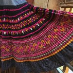 Yao Hill Tribe, Hand Embroidered Silk Skirt On Denim Top 10