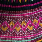Yao Hill Tribe, Hand Embroidered Silk Skirt On Denim Top 6