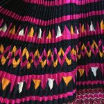 Yao Hill Tribe, Hand Embroidered Silk Skirt On Denim Top 7