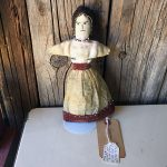 Early 1900s Eskimo Doll, Seal Gut Skirt