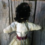 Early 1900s Eskimo Doll With Seal Gut Skirt