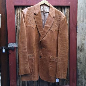 1970 Vintage Western Leather Jacket 1