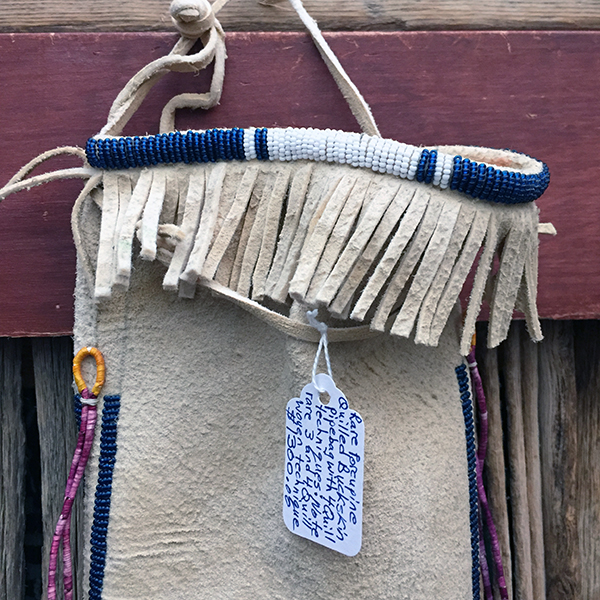 Rare Porcupine Quilled Buckskin Pipe Bag With 4 Quill Techniques 2