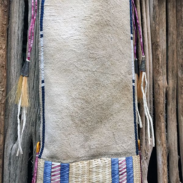 Rare Porcupine Quilled Buckskin Pipe Bag With 4 Quill Techniques 3