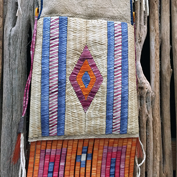 Rare Porcupine Quilled Buckskin Pipe Bag With 4 Quill Techniques 4