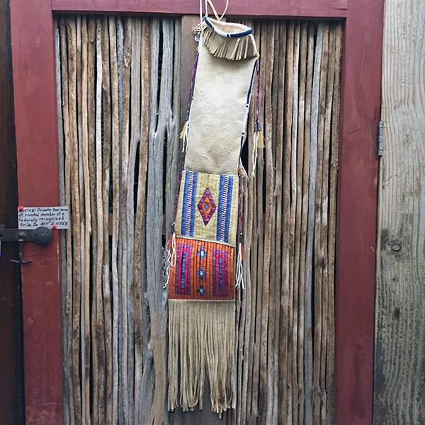 Rare Porcupine Quilled Buckskin Pipe Bag With 4 Quill Techniques 7