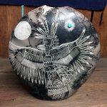 Navajo Horsehair Pot, Jemez Eagle Dancer