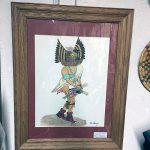 Hopi Paul Talawepi Watercolor Horned Owl Kachina