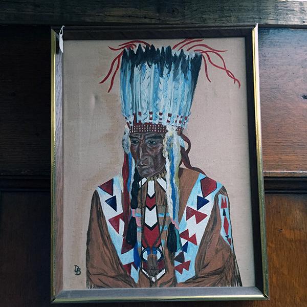 Original Oil Blackfoot Chief